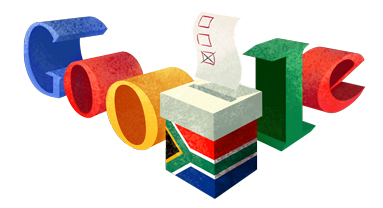 Google's Doodle on May 7, the date of South Africa's general election